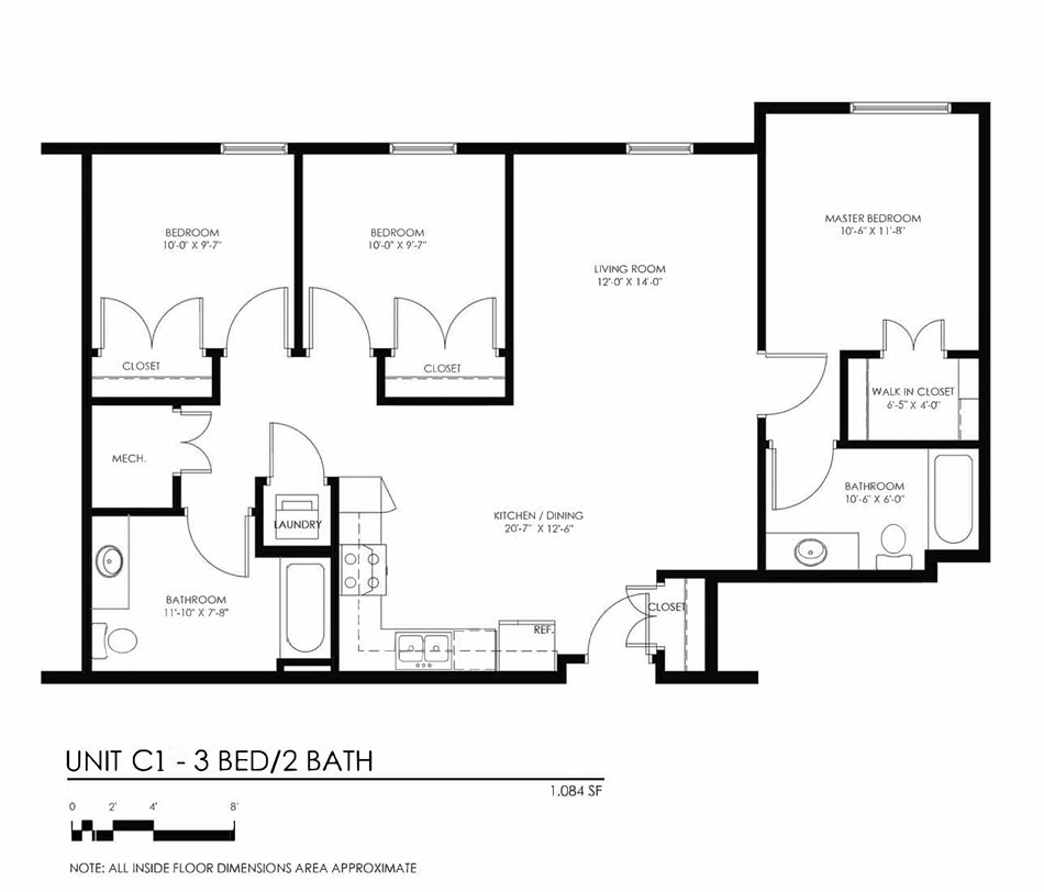 Three Bedroom Apartments The Forge On Broadway Multi Family Homes